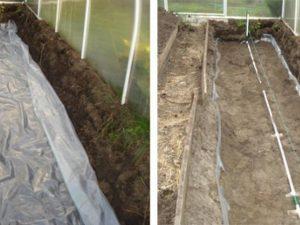 Внутрипочвенный полив овощей в теплице и на огороде