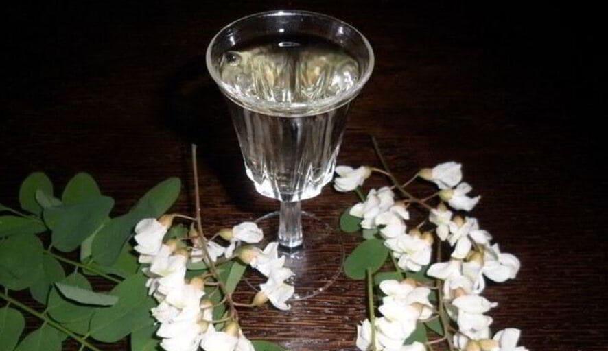 Спотыкач из цветков белой акации